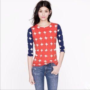 J. Crew tippi merino wool sweater blue red XS